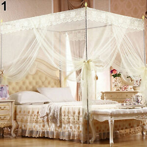 IC- Princess Lace Canopy Mosquito Net No Frame for Twin Full King Queen Bed