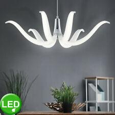 Design LED Decken Pendel Leuchte Restaurant Hänge Lampe Kronleuchter silber NEU