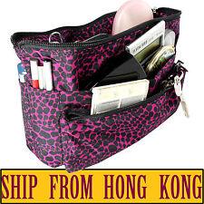 Medium Reversible Organizer Tidy Pouch Travel Insert Handbag Cosmetic Makeup Bag