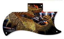 SG Half Face 61 RI Pickguard Custom Gibson Graphical Guitar Single Golden Dragon