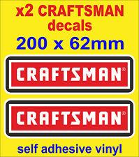 2x Craftsman Tools stickers Motorsport Voiture Van Camion Autocollant Boîte à outils atelier porte