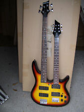 Double neck  electric guitar and bass guitar, 6 and 4 string on each neck,  new