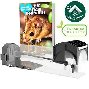 BearCraft Lebend Mausefalle | Transparente und Wiederverwendbare Rattenfalle