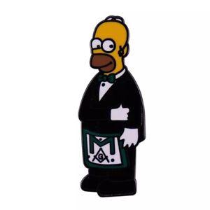 The Simpsons Masonic Freemason Enamel Pin Stonecutters Lodge Brooch Pin
