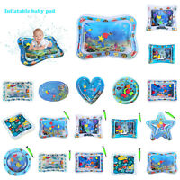 Baby Toddlers Kids Water Play Mat Inflatable Infants Tummy Time Playmat Game Toy