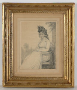 "Henry Edridge (1769-1821) ""Portrait of a Lady"", drawing, ca.1795"