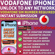 Unlock Code Service For iPhone 5 5S SE 6 6S 7 8 X XS XR 11 Max Pro Vodafone UK