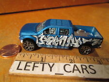 SCALE 1/64 2009 FORD F-150 BLUE PICK UP TRUCK CREW CAB - LOOSE! NO BOX!