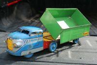 Wyandotte Side Dump Tractor Trailer Truck - Pressed Steel - USA - construction