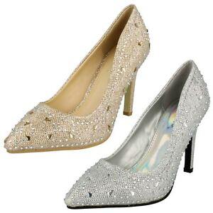 Anne Michelle F9947 Ladies Glitter Elegant Court Shoes