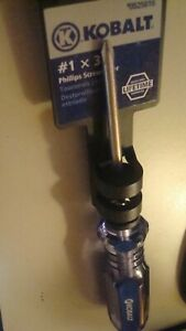 "Kobalt #1 x 3"" Phillips Screwdriver  #525816 NEW Screwdriver Lifetime Guarantee"