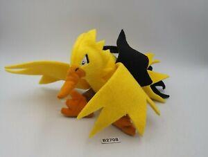 "Zapdos B2708 Pokemon Banpresto Bandai Spirits Plush 4"" Stuffed Toy Doll Japan"