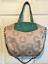 Coach Ashley Dotted Op Art North South Satchel Bag