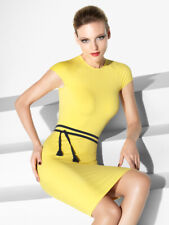 Wolford Etui Pencil Midi Dress Aurora NEU XS EU D 34 36 gelb Sommer Bodycon