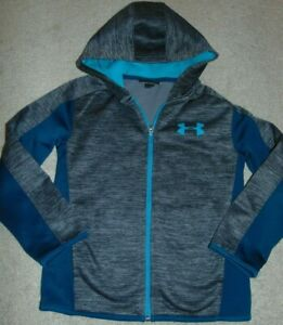 ~EUC Boys UNDER ARMOUR Long Sleeve Zip-Up Hoodie! Size 7 Nice:)!
