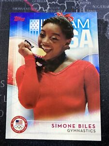 2016 Topps USA Olympics Team Simone Biles RC Rookie Gymnastics *Pack Fresh* #38