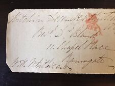 WILLIAM HENRY WHITBREAD - MP & SON OF THE FAMOUS BREWER - SIGNED ENVELOPE FRONT