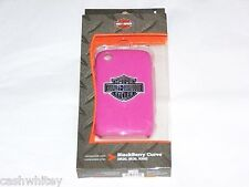 HARLEY DAVIDSON MOTORCYCLES Pink Blackberry Curve Cell Phone Shell Case Cover