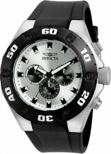 New Mens Invicta 21403 Specialty Multifunction Silver Dial Polyurethane Watch