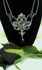 ALCHEMY NECKLACE - QUEEN OF THE NIGHT - GOTHIC ROMANCE JEWELLERY PENDANT & CHAIN