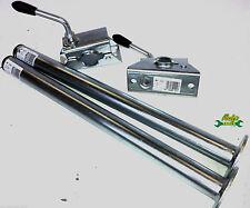 Pair of 34mm diameter x 460mm length Trailer Leg Prop Stands & Split Clamps MT11