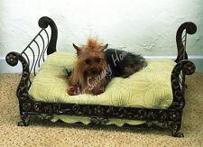 Posh Antique Style BRASS SLEIGH Dog Pet Cat Bed Tole Victorian Ornate Designer