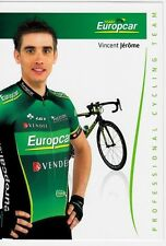 CYCLISME carte cycliste VINCENT JEROME équipe EUROPCAR 2012