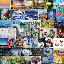 Frameless DIY Digital Oil Painting By Numbers Staring Cat Animal Picture Decor
