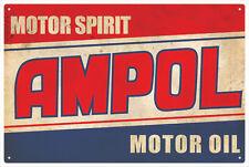 Ampol Motor Oil Vintage Tin Sign Large
