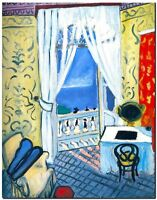 """Henri Matisse CANVAS PRINT Open Window Sea View Painting poster 24""""X18"""""""