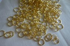 100 Gold Coloured Alloy Jump Rings 10x0.9mm #0073 Combine Post-See Listing