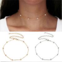 Fashion Women Smiple Choker Charm Necklace Vintage  Chocker Retro Chain Necklace