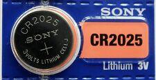 "5 Batteria PILA Sony Cr2025 CR 2025 Dl2025 ""scadenza 2025"" no Duracell"