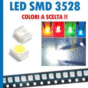 LED 3528 SMD ALTA LUMINOSITA' BIANCHI BLU ROSSO VERDE GIALLO Diodi PLCC