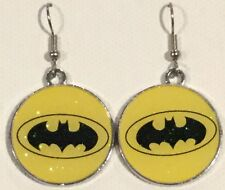 BATMAN Super Hero Earrings Surgical Hook New Justice League