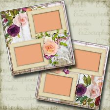 Shabby Woodsy - Wedding - 2 Premade Scrapbook Pages - EZ Layout 4140