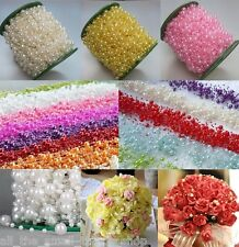 5M FAUX PEARL BEAD STRING GARLAND WEDDING TABLE PARTY DECORATION CELEBRATION
