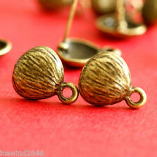 Sale 5 pairs of  Antqiue Bronze finish Shell Ear Posts