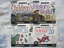 DK EYEWITNESS. 4 x Daily Express Promo PC CD ROM . Encyclopedia.