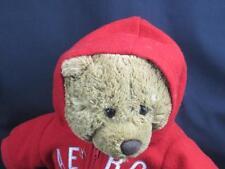 BIG AERO AEROPOSTALE RED HOODIE VINTAGE TEDDY BEAR PLUSH STUFFED ANIMAL 1987