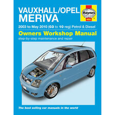 Vauxhall Meriva 1.4 1.6 1.8 Pet 1.3 1.7 Dsl 03-10 (03 to 10 Reg) Haynes Manual