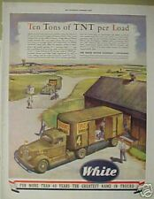 1943 WWII White Motor Truck*TNT*Explosives Military AD