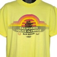 California Police Olympics T Shirt Vintage 80s 1983 San Diego Made In USA XL