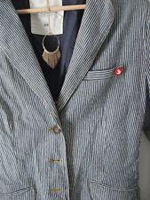H&M LOGG Blazer blau weiß gestreift Ahoi See Anker 38/40