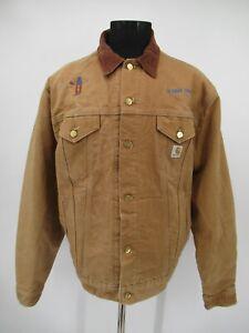 M9580 VTG Carhartt Men's Blanket Line Denim Trucker Work Jacket