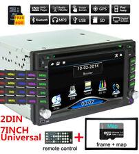 "7"" HD 2 Din Car GPS Bluetooth Stereo DVD CD FM Radio MP5 Player W/ 8G Free Maps"