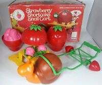 Strawberry Shortcake Snail Cart Escargot With Original Box Complete Kenner