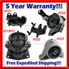 K499 Fit 2003-2006, Acura MDX 3.5L, Engine Motor & Trans Mount Full Set 5PCS