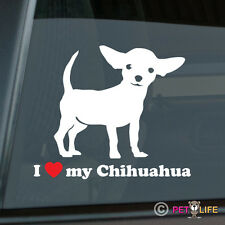 I Love My Chihuahua Sticker Die Cut Vinyl