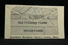 Massachusetts: Newton Centre 1910 Burnham Brothers Flooring Advertising Cover
